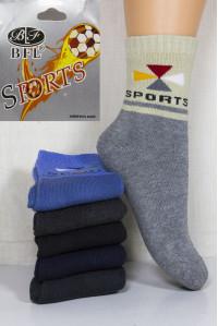 Махровые детские носки BFL SPORT высокие Арт: C107-03 / Упаковка 12 пар /