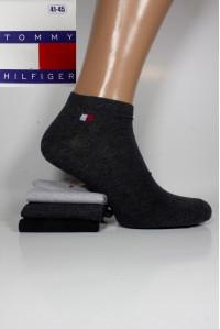 Стрейчевые мужские носки TOMMY HILFIGER / 1295 / укороченные Арт.: 574699-295 / Упаковка 12 пар /