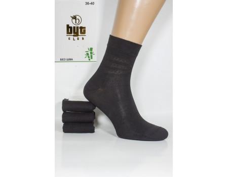 Бамбуковые женские носки Byt Club высокие с трафаретом Арт.: 8585-2 / Полоски /
