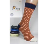 Стрейчевые мужские носки BENISA высокие Арт.: 1075-4 / Горошек /
