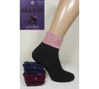 Шерстяные махровые женские носки с отворотом SYLTAN средние Арт.: 2840 / Упаковка 12 пар /