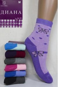 Махровые детские носки Диана Олань высокие Арт: G317-2 / Упаковка 12 пар /