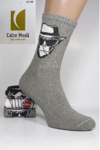 Стрейчевые мужские носки для тенниса CALZE MODA высокие Арт.: 9153-2 / Карты /