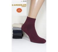 Стрейчевые женские носки в рубчик KARDESLER средней высоты Арт: 5189 / Упаковка 12 пар /
