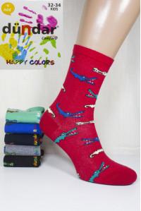 Стрейчевые компьютерные детские носки DUNDAR высокие Арт.: 5817-9 / Крокодилы / Упаковка 12 пар /