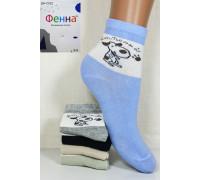 Стрейчевые детские носки ФЕННА средней высоты Арт.: GH-C022 / Упаковка 10 пар /