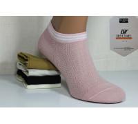 Стрейчевые женские носки в сеточку ШУГУАН укороченные Арт.: B2608