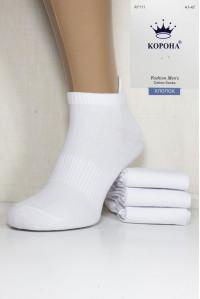 Стрейчевые мужские носки КОРОНА короткие Арт.: AY111-2 / Белый /