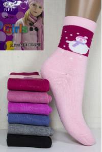 Махровые детские носки BFL Girls высокие Арт: C213-01 / Упаковка 12 пар /
