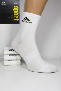 Стрейчевые спортивные мужские носки ADIDAS Sport средней длины Арт.: FA251 / FPA102 / ЛОГО /