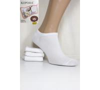 Стрейчевые женские носки КОРОНА укороченные Арт.: B2318-1 / Белый /