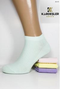 Стрейчевые женские носки узором KARDESLER короткие Арт.: 91421-2 / Имитация сетки /