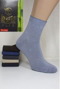 Стрейчевые бамбуковые мужские носки BYT CLUB средней высоты Арт.: 1240-36 / Упаковка 12 пар /
