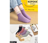 Стрейчевые детские носки КОРОНА средней высоты Арт.: BY306-3