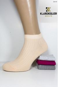 Стрейчевые женские носки узором KARDESLER короткие Арт.: 91421-3 / Рубчик /