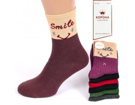 Стрейчевые женские носки КОРОНА высокие Арт.: BY202-3