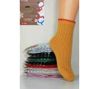 Детские шерстяные носки в рубчик с тормозами КОРОНА Арт.: C3560