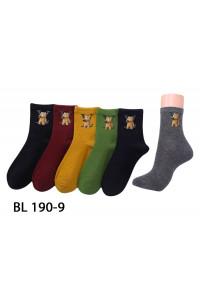Стрейчевые женские носки Натали средней высоты Арт.: BL190-9 / Медведь LV /