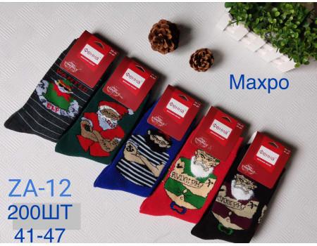 Махровые мужские носки ФЕННА серия Merry Christmas высокие Арт.: ZA-12