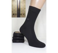 Стрейчевые мужские носки КОРОНА высокие Арт.: A1388 / Черный /