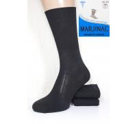 Стрейчевые мужские компрессионные носки MARJINAL высокие Арт.: 09004 / Черный / Упаковка 6 пар /