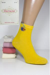 Стрейчевые женские носки 3D ушки Натали средней высоты Арт.: HB-001 / Упаковка 10 пар /
