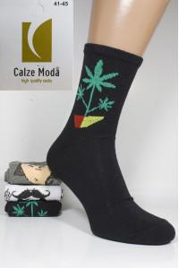 Стрейчевые мужские носки для тенниса CALZE MODA высокие Арт.: 9153-4 / Конопля /