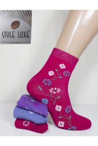 Махровые женские носки STYLE LUXE высокие Арт.: Ж30-040 / Упаковка 12 пар /