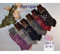 Шерстяные женские носки с тормозами ФЕННА ультракороткие Арт.: ZB51-2