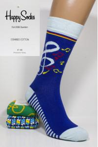 Стрейчевые мужские носки Happy Socks высокие Арт.: 623399-4 / Музыка /