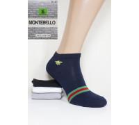 Стрейчевые женские носки MONTEBELLO Ф3 короткие Арт: 7422K-3 / Пчелка + полоска / Упаковка 12 пар /