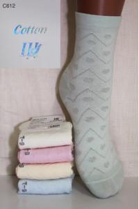 Хлопковые детские носки в сеточку ШУГУАН высокие Арт.: C612