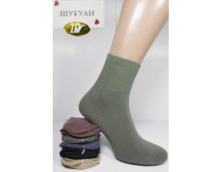 Стрейчевые женские носки на анатомической резинке Арт.: B2805 / Упаковка 10 пар /