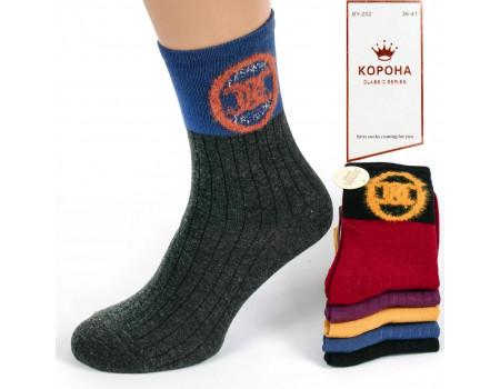 Стрейчевые женские носки КОРОНА высокие Арт.: BY202-5