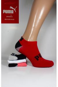 Стрейчевые женские носки PUMA короткие Арт.: 074699-516 / Ассорти /