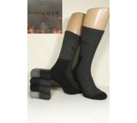 Шерстяные махровые мужские носки KARDESLER комбинированные высокие Арт.: 9007 / 0227 / Упаковка 12 пар /