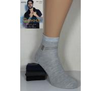 Стрейчевые мужские носки ФЕННА средней высоты Арт.: 1202-10 / ШАХМАТЫ / Упаковка 12 пар /