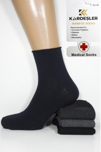 Стрейчевые мужские медицинские носки KARDESLER средней длины Арт.: 0212 / Упаковка 12 пар /