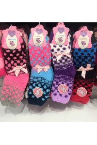 Женские махровые носки травка КОРОНА высокие Арт.: 2560 / 3071 / Упаковка 12 пар /
