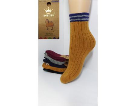 Детские шерстяные носки на анатомической резинке КОРОНА Арт.: C3555-1