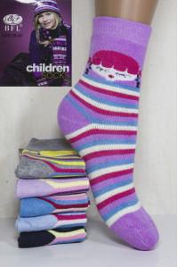 Махровые детские носки BFL Children высокие Арт: C131-10 / Девочка / Упаковка 12 пар /