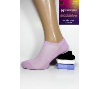 Стрейчевые женские носки в сеточку KARDESLER ультракороткие Арт.: 0054