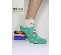Хлопковые женские носки 3D ушки MARJINAL короткие Арт.: 3756-2 / Упаковка 12 пар /