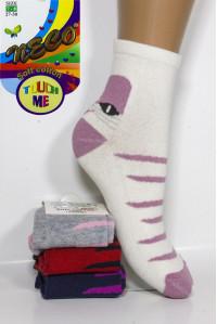 Стрейчевые детские носки NECO Touch Me средней высоты Арт.: 0710-2 / Кот /