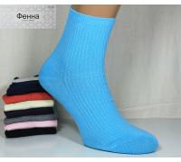 Стрейчевые женские носки в рубчик ФЕННА высокие Арт.: Y-B701 / Упаковка 10 пар /