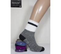 Шерстяные женские носки в рубчик с меховым манжетом НАТАЛИ высокие Арт.: B3504 / B-911 / Упаковка 10 пар /