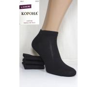 Стрейчевые женские носки КОРОНА укороченные Арт.: B2329-2 / Черный /