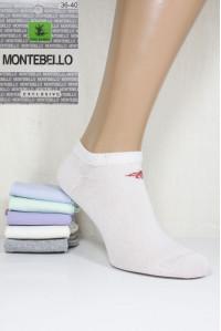 Стрейчевые женские носки MONTEBELLO Ф3 короткие Арт: 7422K-4 / Пчелка / Упаковка 12 пар /