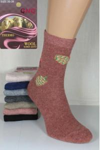 Шерстяные женские термо носки из овечьей шерсти GNG высокие Арт.: 3396