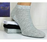 Стрейчевые мужские носки с массажной стопой ФЕННА короткие Арт.: GH-A002-3 / Ассорти / Упаковка 10 пар /